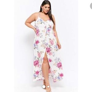 Forever 21 plus size floral maxi dress. Size 2X